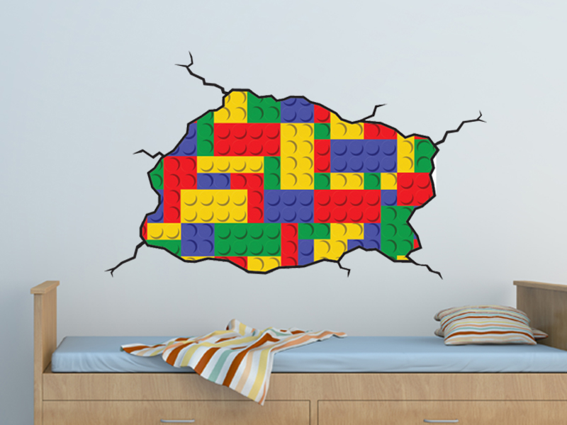 Lego Style Wall Decal On Luulla - Lego wall decals vinyl