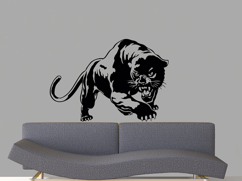 Black panther 2 vinyl wall decal 23 x33 on luulla for Black panther mural